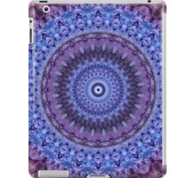 Mandala in violet and blue tones iPad Case/Skin