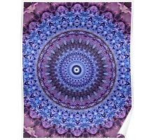 Mandala in violet and blue tones Poster