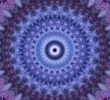 Mandala in violet and blue tones Sticker
