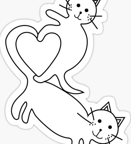 Heart Kittens Sticker