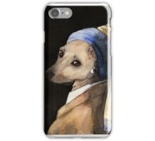 Baxter with the Pearl Earring iPhone Case/Skin