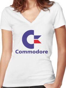 Commodore Women's Fitted V-Neck T-Shirt