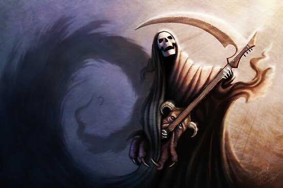 Death Guitarist by Daniel Ranger