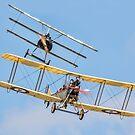 Fokker Dr1 v BE2c replica encounter by Colin Smedley