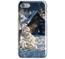 Cabin with snow iPhone Case/Skin