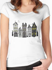 Haunted Houses Women's Fitted Scoop T-Shirt