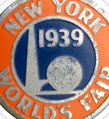 New York World's Fair 1939 Sticker