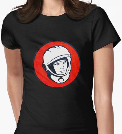 Cosmonaut Yuri Gagarin  Womens Fitted T-Shirt