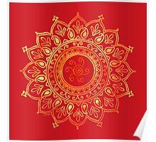 Decorative Indian Sun Poster