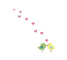 Love Birds - white by LINA Design