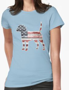 Patriotic Beagle Womens Fitted T-Shirt