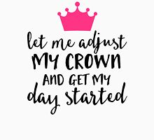 Adjust My Crown Funny Quote Womens Fitted T-Shirt