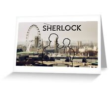 Sherlock Silhouette  Greeting Card