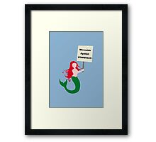 Mermaids Against Starbucks Framed Print