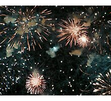 A Fusion of Fireworks Photographic Print