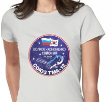 Soyuz TMA 12 - ISS Expedition 17 - Russian Korean Space Flight Womens Fitted T-Shirt