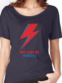 "David Bowie ""Heroes"" original design Women's Relaxed Fit T-Shirt"