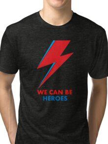 "David Bowie ""Heroes"" original design Tri-blend T-Shirt"