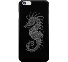 Intricate Dark Tribal Seahorse Design  iPhone Case/Skin