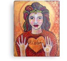 Listen to the Hive Heart Metal Print