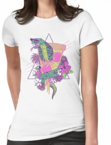 Snake Pizza Womens Fitted T-Shirt