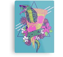 Snake Pizza Metal Print
