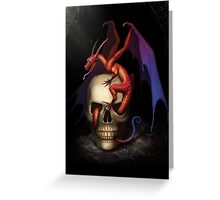 Skull Dragon Greeting Card