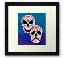 Comedy-Tragedy Colorful Sugar Skulls Framed Print