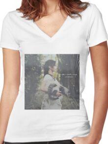 Lou Rhodes - Theyesandeye vinyl record sleeve Women's Fitted V-Neck T-Shirt