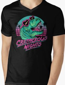 Cretaceous Nights Mens V-Neck T-Shirt