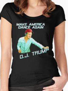 DJ Trump: Make America Dance Again Women's Fitted Scoop T-Shirt