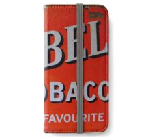 Old red enamelled Billboard Red Bell Tobacco Advertisement iPhone Wallet/Case/Skin