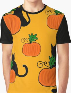 Halloween pumpkins and cats Graphic T-Shirt