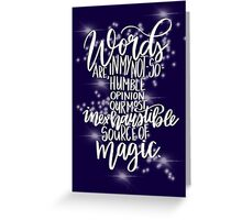 Harry Potter Quote - Dumbledore Greeting Card