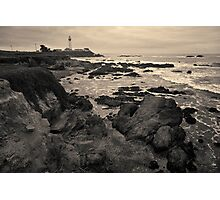 Pigeon Point Lighthouse Toned Photographic Print