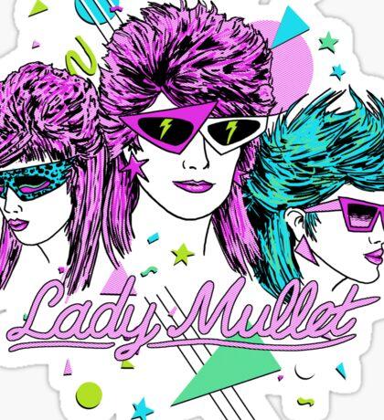Lady Mullet Sticker