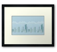 Cloudy City Landscape Framed Print
