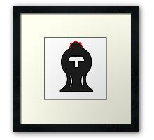The Proud Knight - Chess set Framed Print