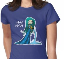 Astrology - Aquarius Womens Fitted T-Shirt