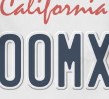 License Plate - ZOOMX2 Sticker