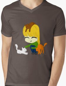 Kawii Kitties Mens V-Neck T-Shirt