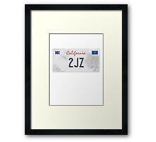 License Plate - 2JZ Framed Print