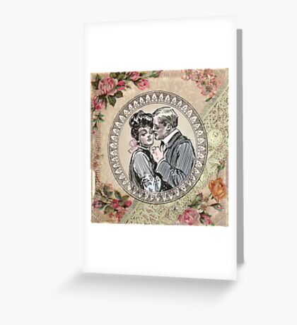 Gibson Girl in Love Victorian Love Greeting Card