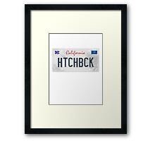 License Plate - HTCHBCK  Framed Print