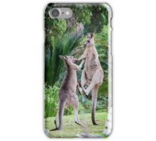 Male Kangaroos Fighting iPhone Case/Skin