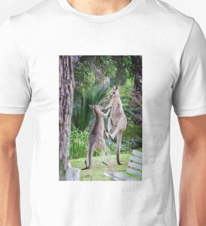 Male Kangaroos Fighting Unisex T-Shirt