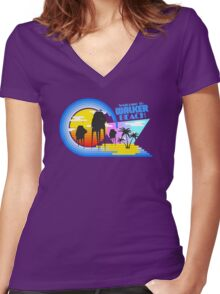 Welcome to Walker Beach Women's Fitted V-Neck T-Shirt