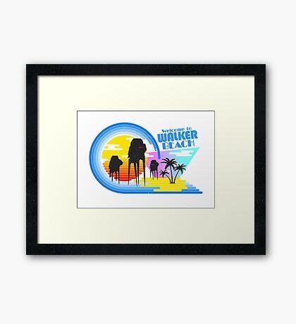 Welcome to Walker Beach Framed Print