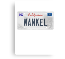 License Plate - WANKEL Canvas Print