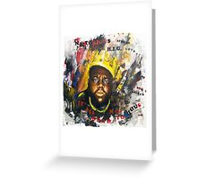 Biggie Tribute Greeting Card